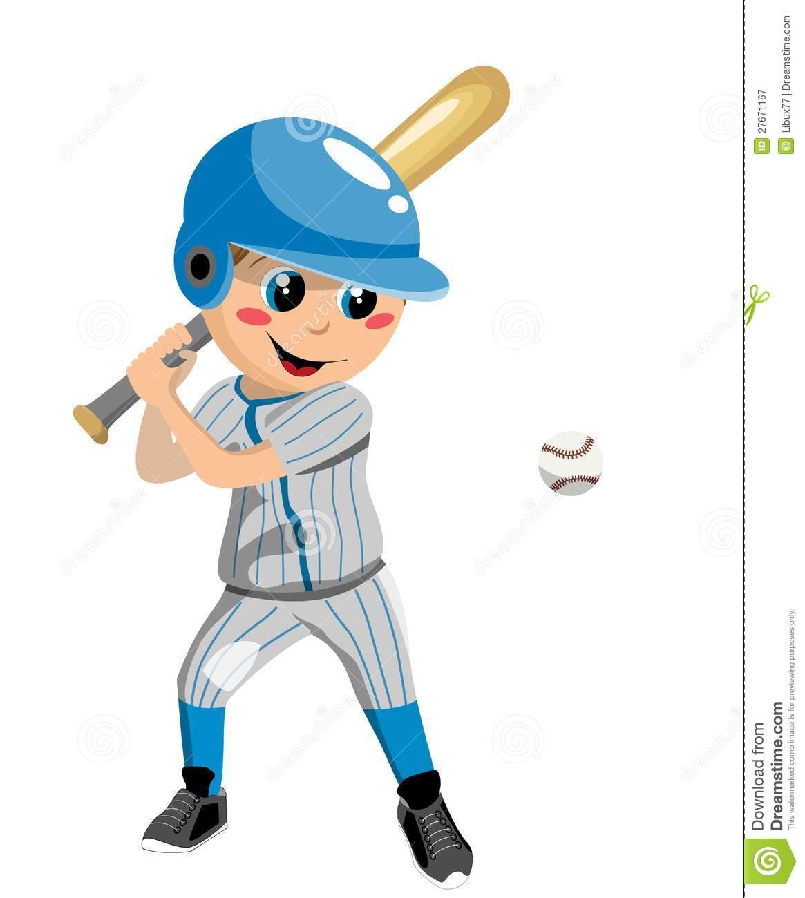 Boy Baseball Player Clipart.