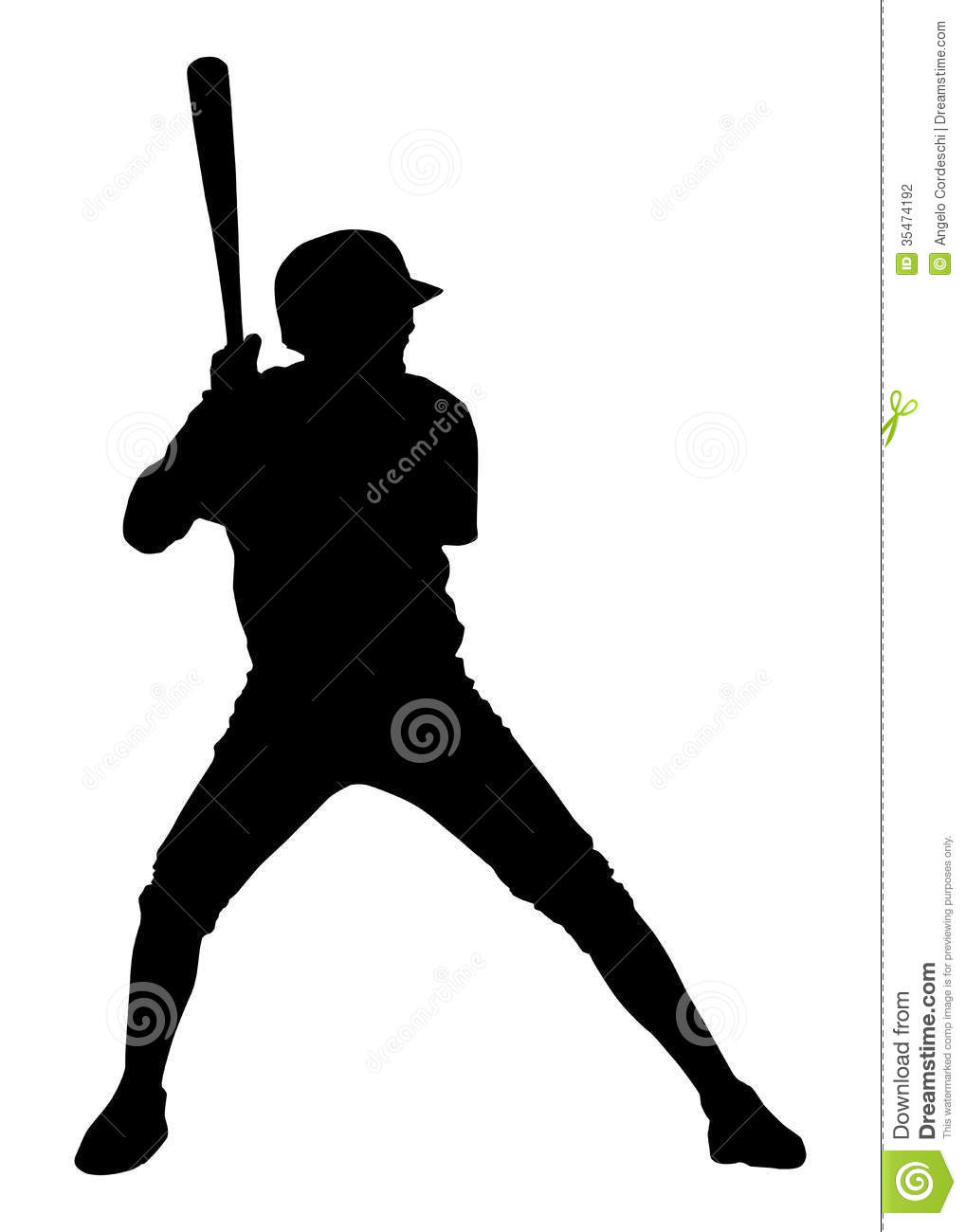 Baseball Player Clipart Black And White.