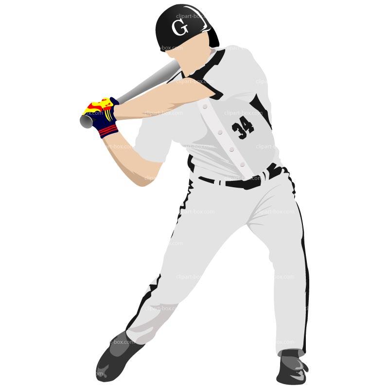 1074 Baseball Player free clipart.