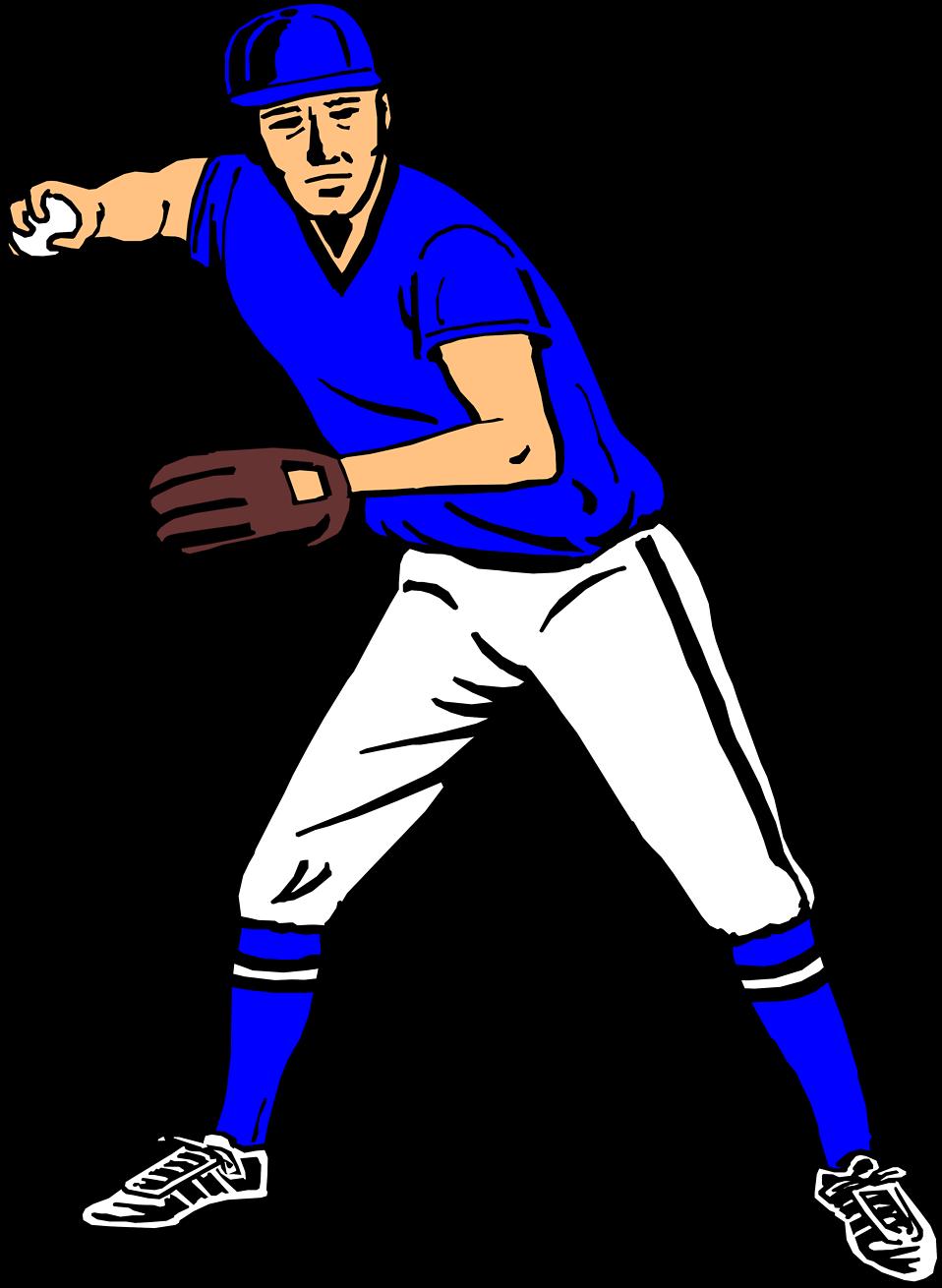 Baseball player clipart 2.