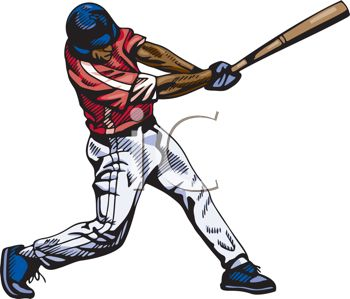 Cartoon Baseball Player Clipart Free.