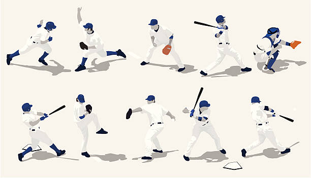 Best Baseball Player Illustrations, Royalty.