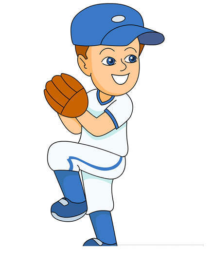 Baseball Player Clipart Ready To Ball.
