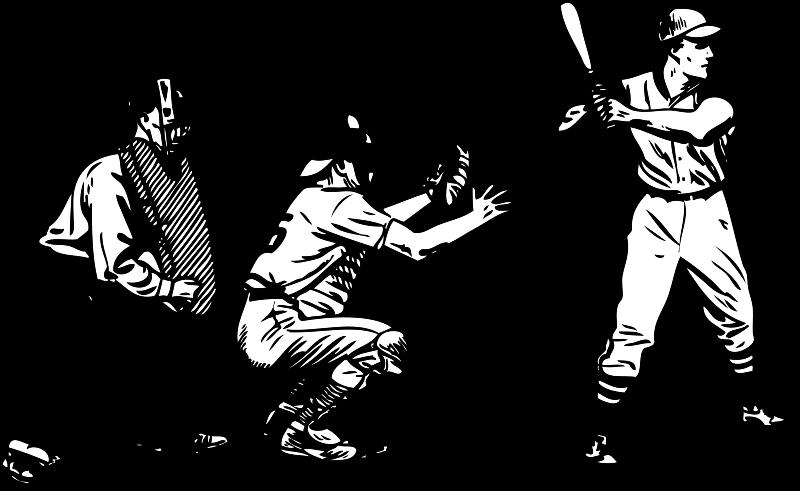 Free Clipart: Baseball at bat.