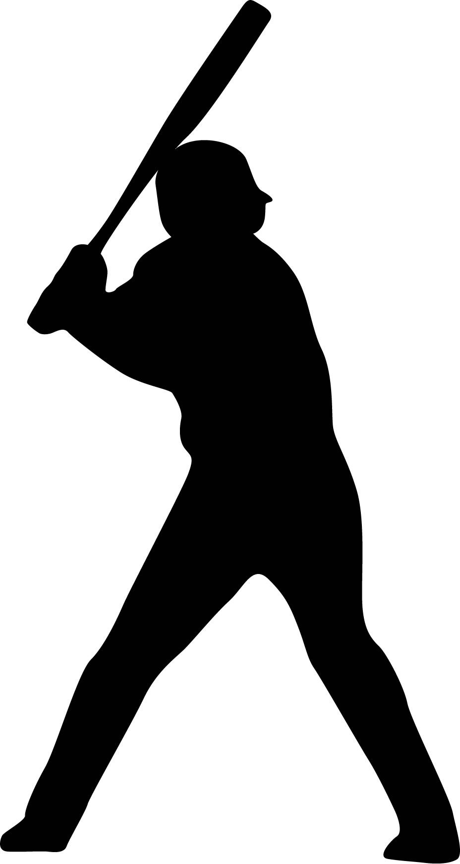 Baseball Player Batting Stance Righty Silhouette : Custom.