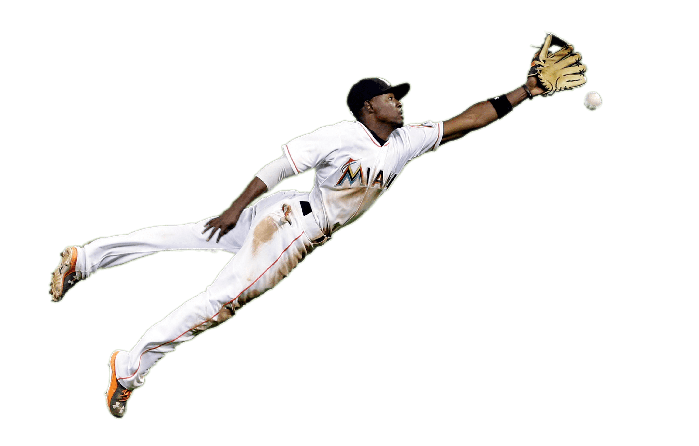 Player Catching Baseball transparent PNG.