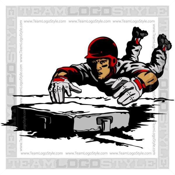 Baseball Player Sliding Clipart » Clipart Portal.