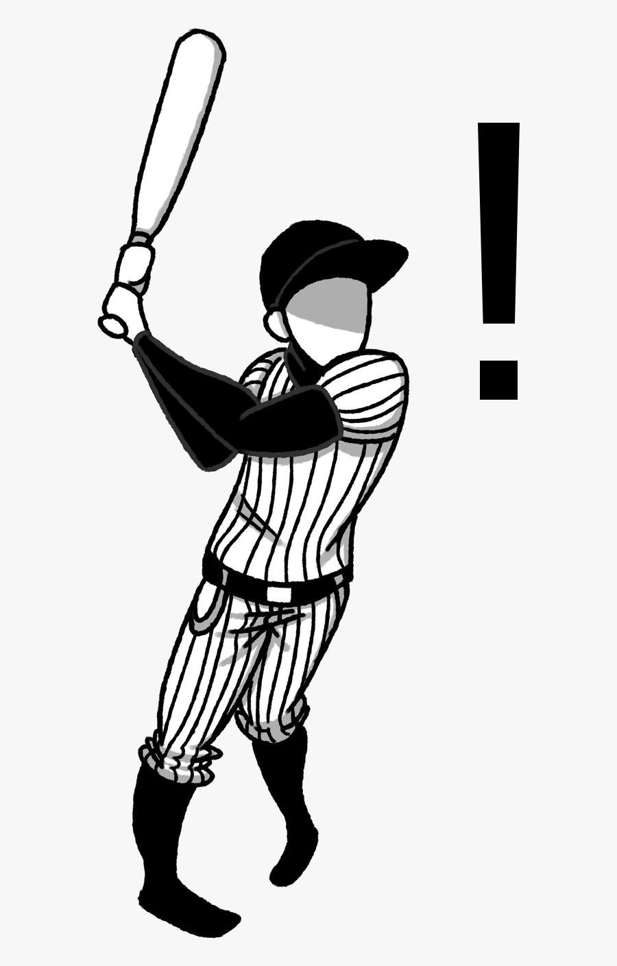Baseball Player Swinging Bat Clip Art , Transparent , Free.