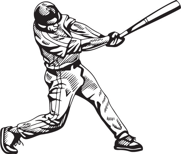 Baseball Player Batting Clipart Clipartfest.