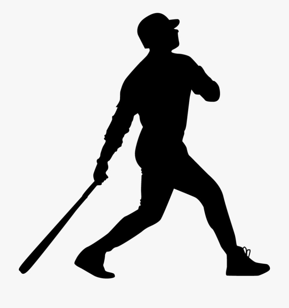 Baseball Home Run Silhouette , Transparent Cartoon, Free.