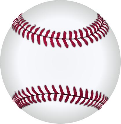 baseball sharp seams.