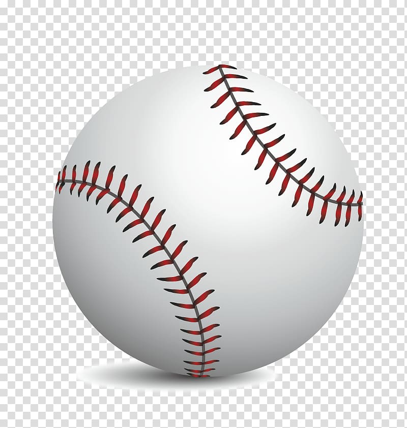 MLB Baseball Softball Sport, realistic baseball transparent.