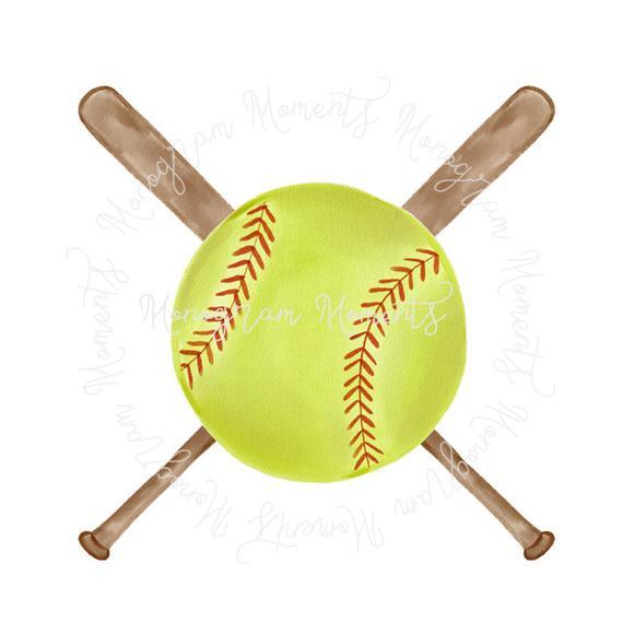 Watercolor Baseball PNG.