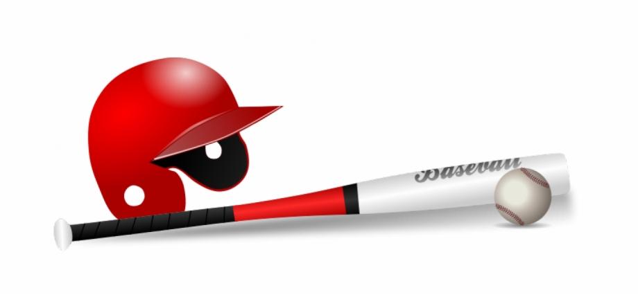 Baseball Bat, Ball And Cap Vector Clip Art.