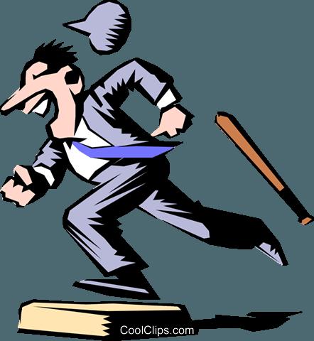 Cartoon baseball runner Royalty Free Vector Clip Art illustration.