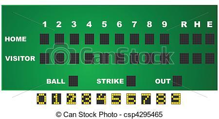 Baseball scorecard.