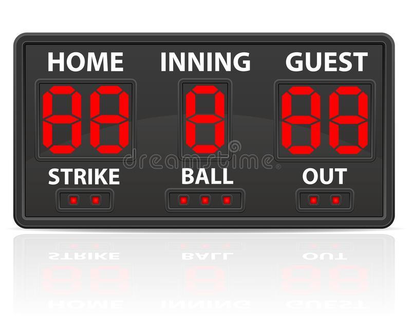 Baseball Scoreboard Stock Illustrations.
