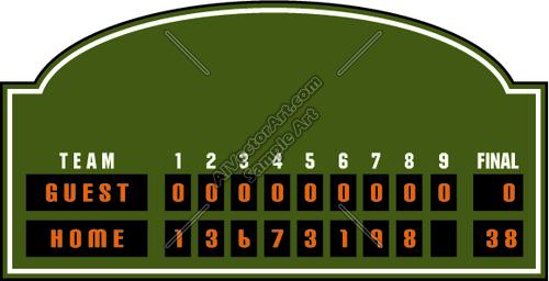 Baseball scoreboard clipart 1 » Clipart Portal.
