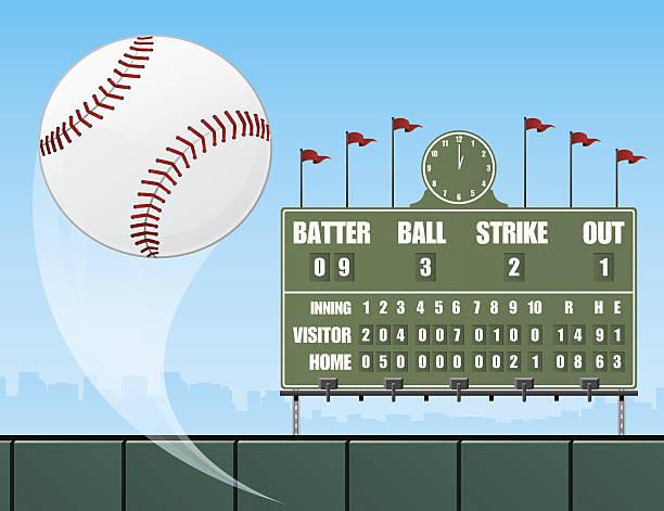 Best Baseball Scoreboard Illustrations, Royalty.