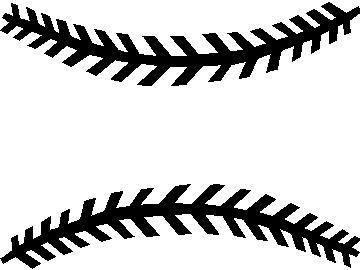 Baseball seam clip art.
