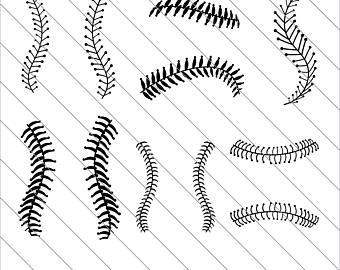 97 Baseball Stitches free clipart.