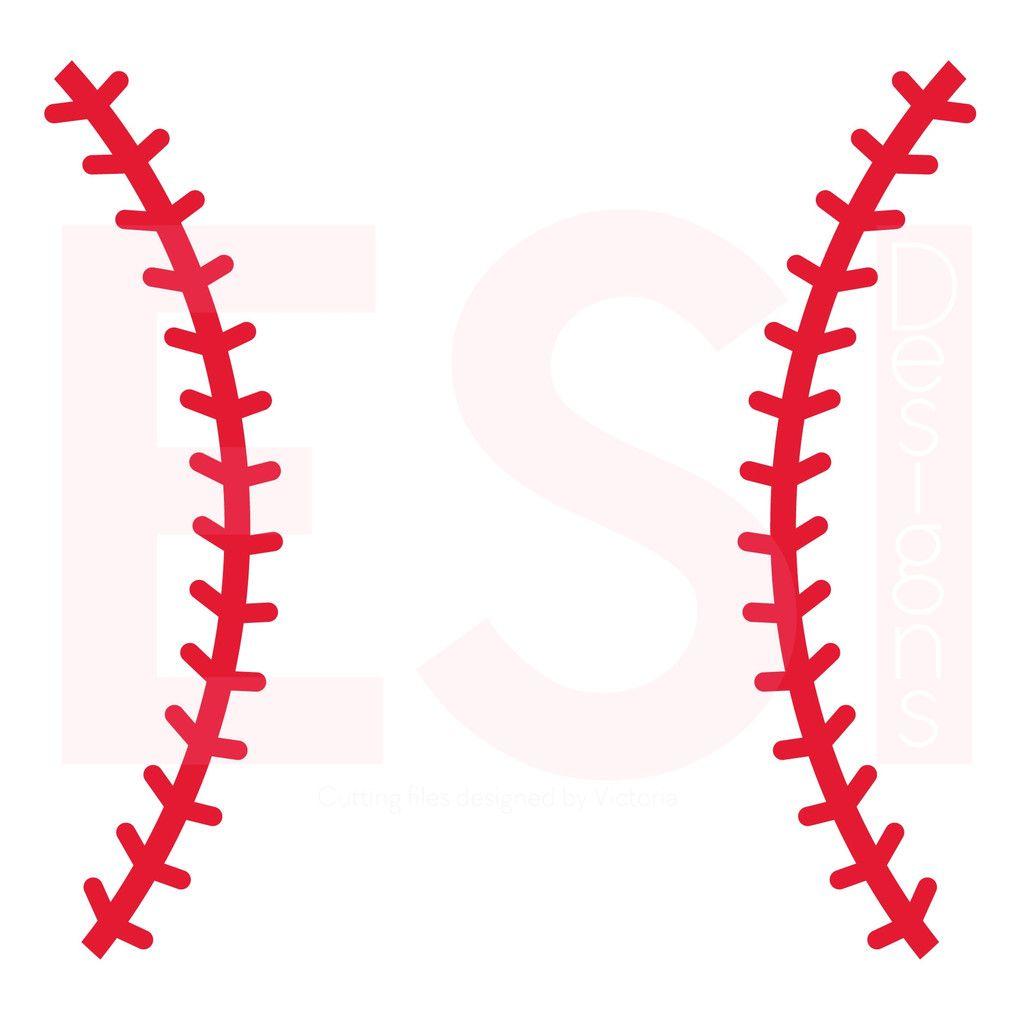 Baseball Stitches SVG Cutting File.