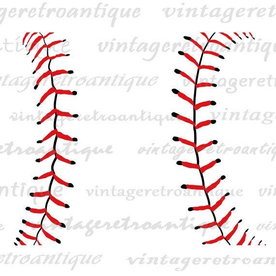 Digital Image Baseball Seams Graphic Baseball Printable Download.