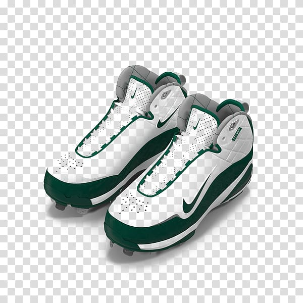 Track spikes Nike Sneakers Shoe, White green Nike baseball.
