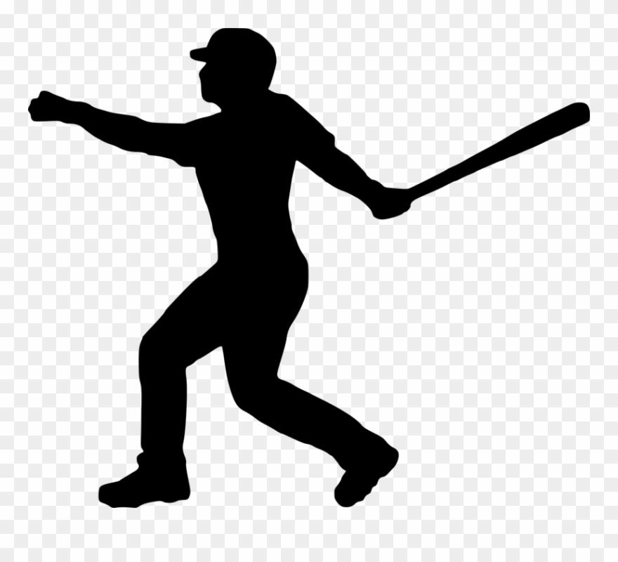 Silhouette Clipart Baseball.
