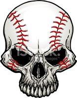 Baseball Skull stock vectors.