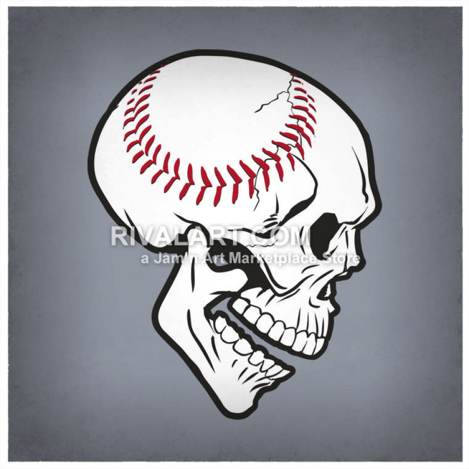 Skull Face Baseball.