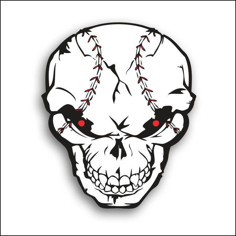 Baseball Skull Clipart.
