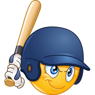 Baseball clipart smiley face, Baseball smiley face.
