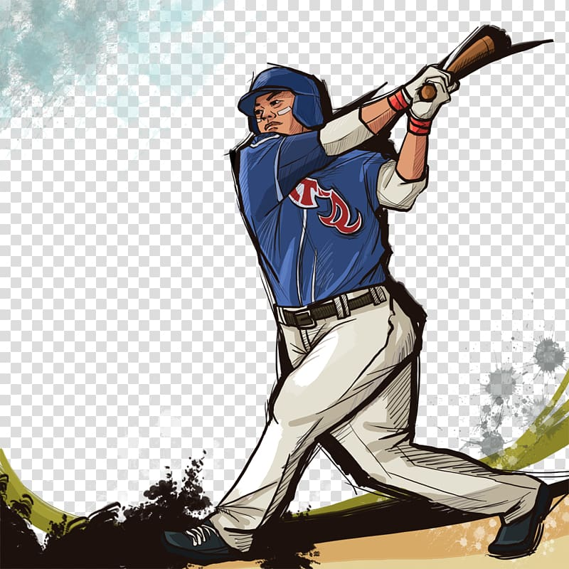 Baseball park Sport Illustration, Hand.