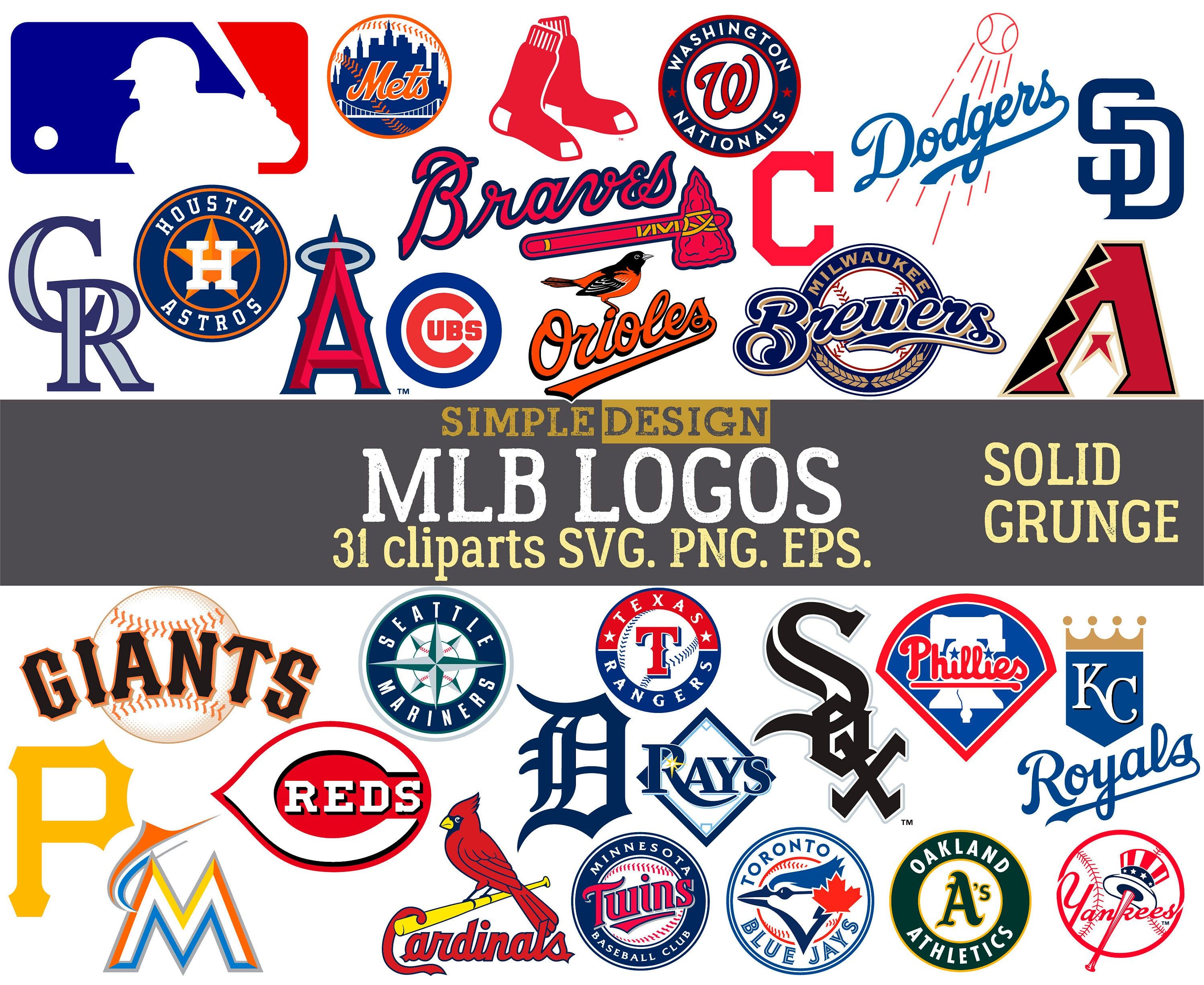 MLB team logos, MLB SVG, baseball team logos, grunge, distressed, baseball  clipart, mlb logo team svg, major league svg, baseball svg..