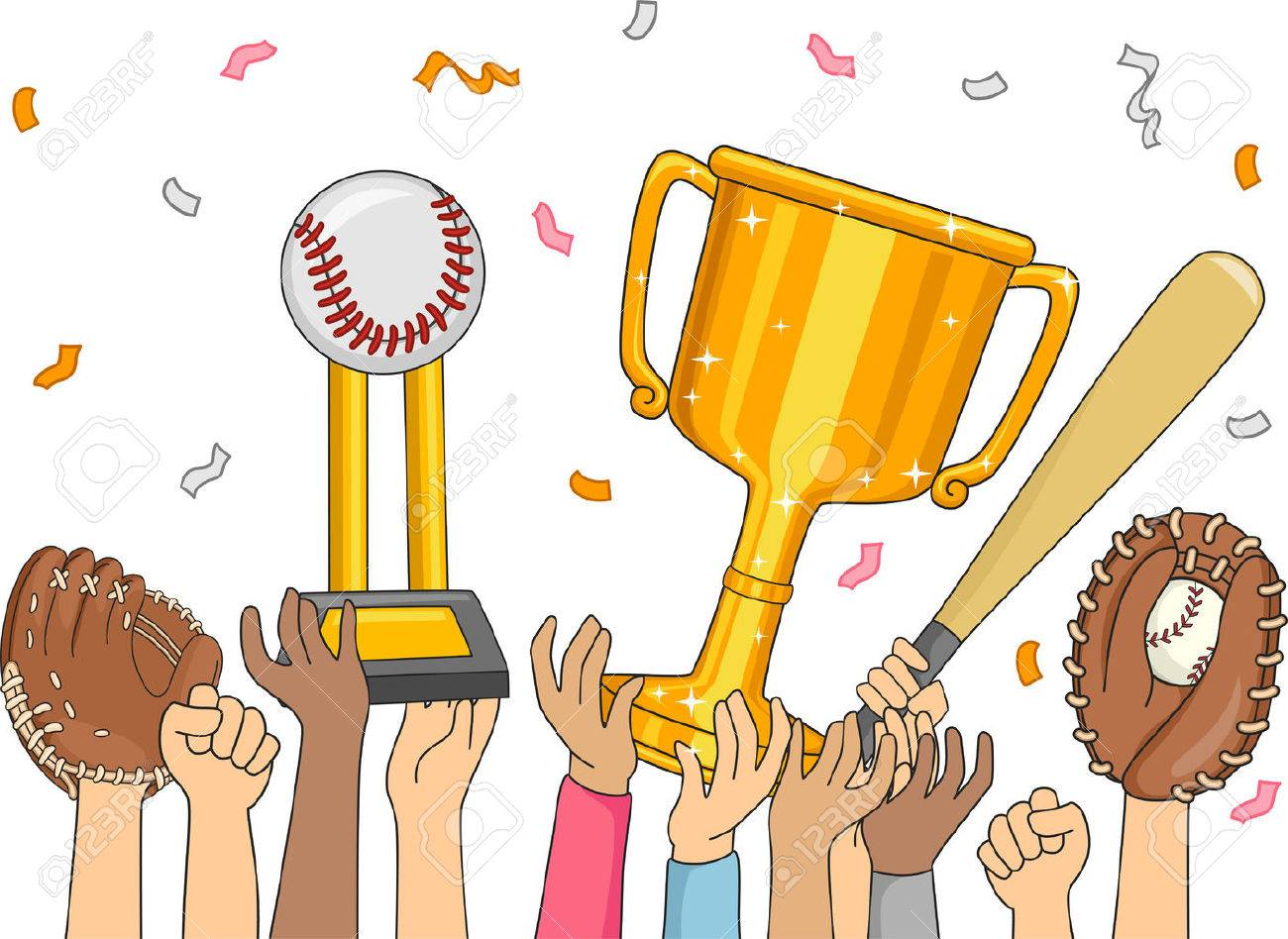 Illustration Featuring a Baseball Team Celebrating Their Victory.
