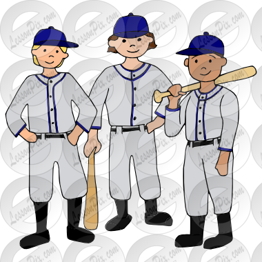 Baseball Team Picture for Classroom / Therapy Use.