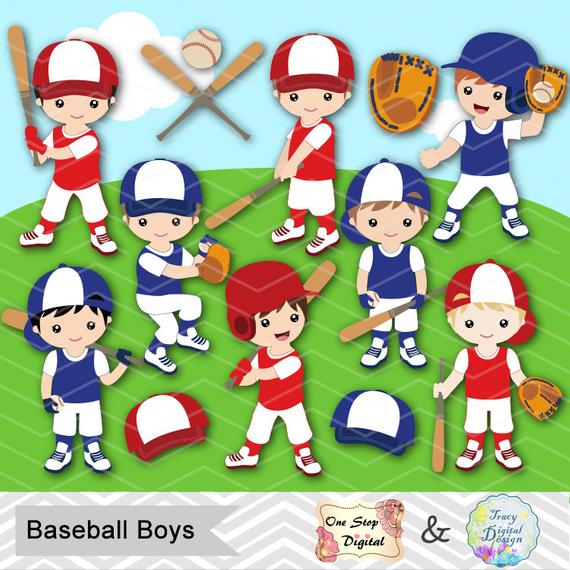 Instant Download Baseball Boy Digital Clipart, Baseball Boys Clip Art,  Digital Baseball Team Clipart, Baseball Clip Art, Sport Clipart 0254.