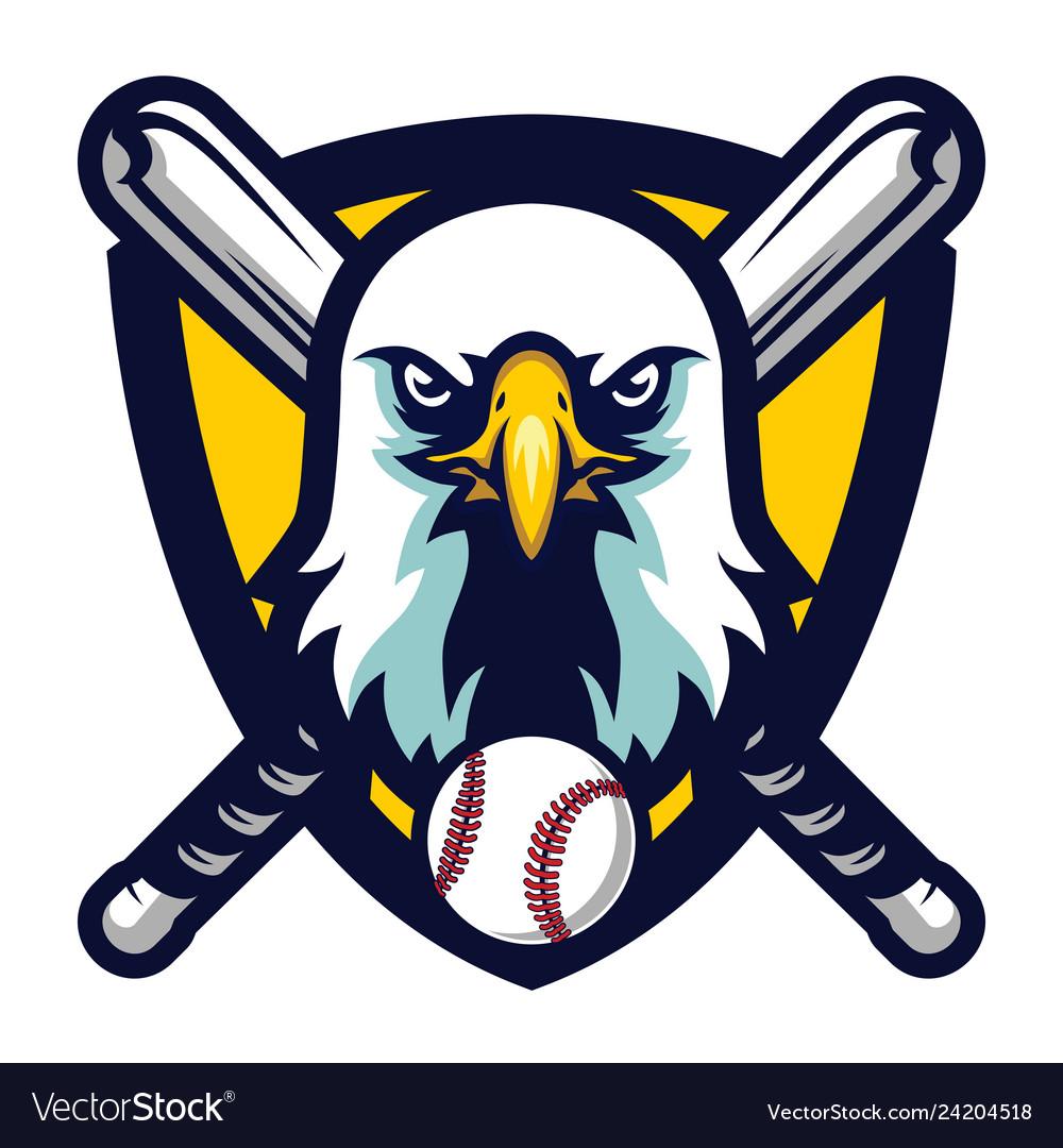 Modern professional eagle baseball team logo badge.
