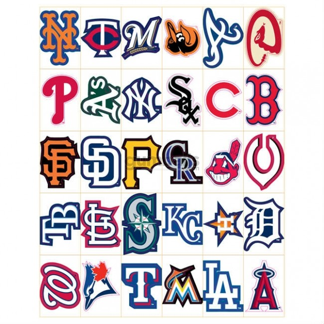 Major League Baseball Team Logo Stickers.