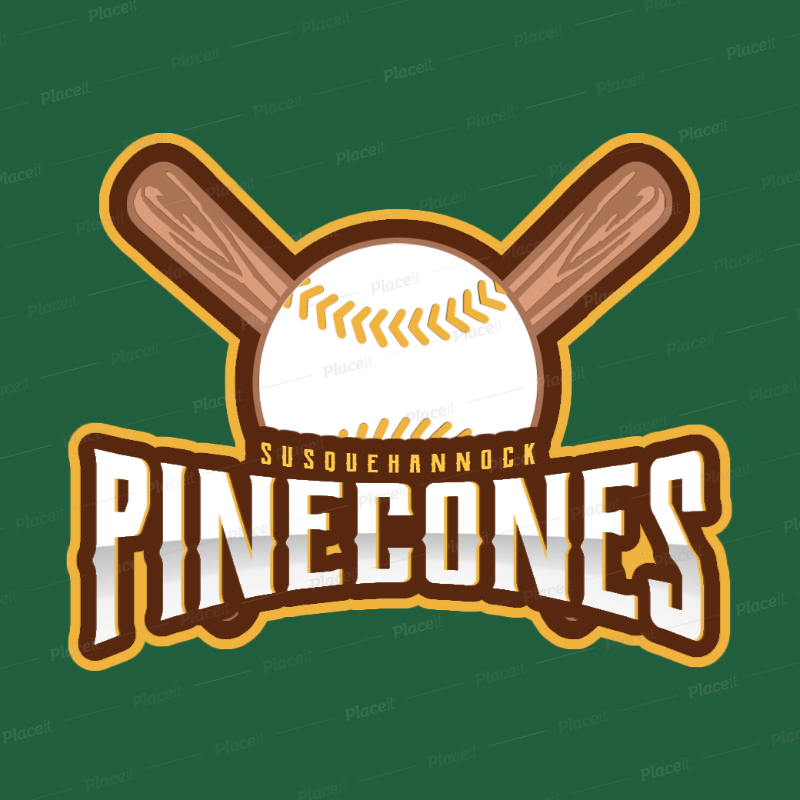 Sports Logo Maker for a Baseball Team with Baseball Clipart 172c.