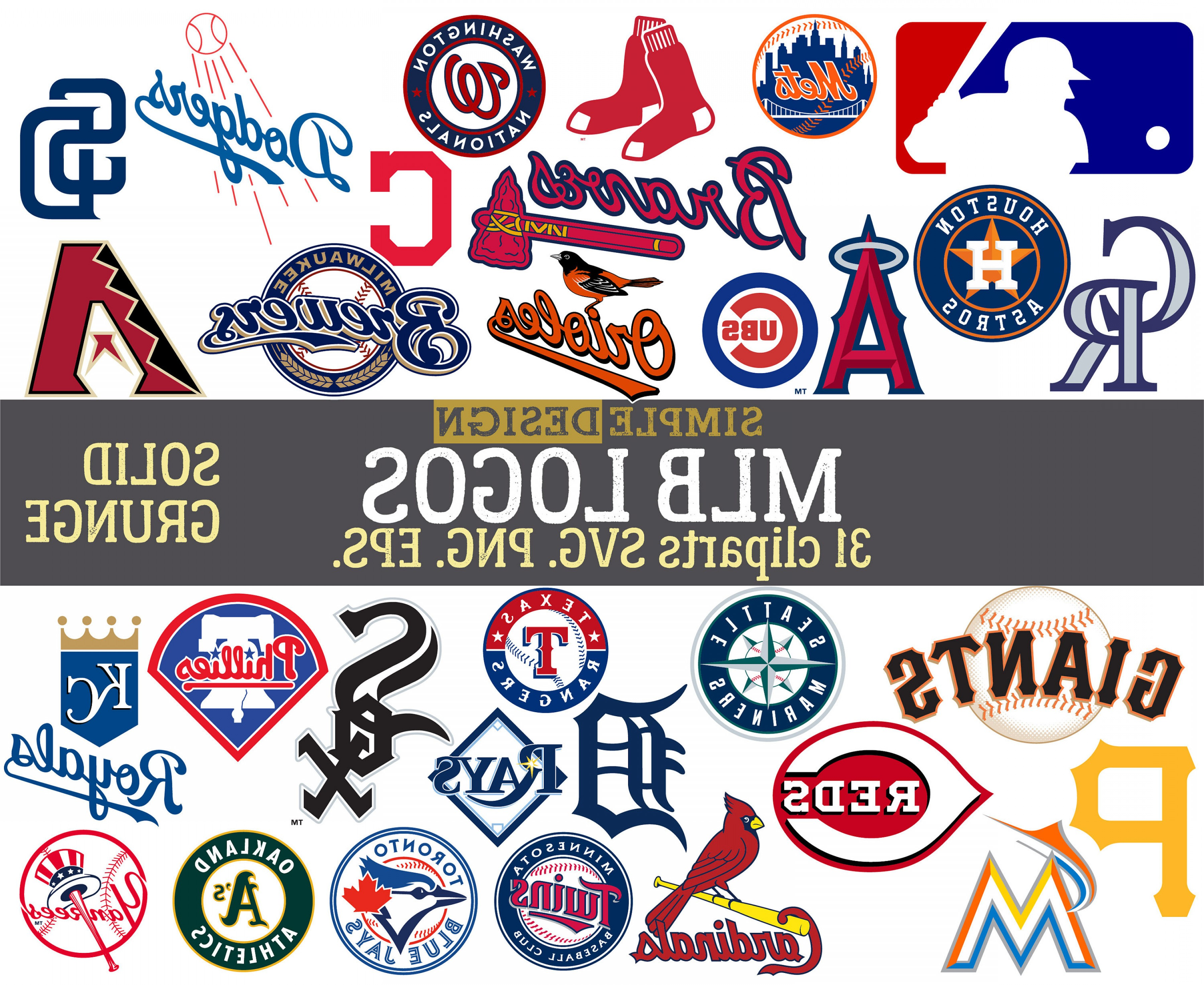 Mlb Team Logos Mlb Svg Baseball Team.