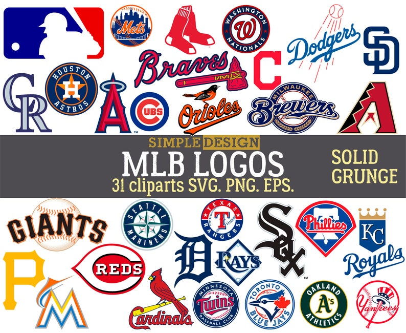 MLB team logos, MLB SVG, baseball team logos, grunge, distressed, baseball  clipart, mlb logo team svg, major league svg, baseball svg..