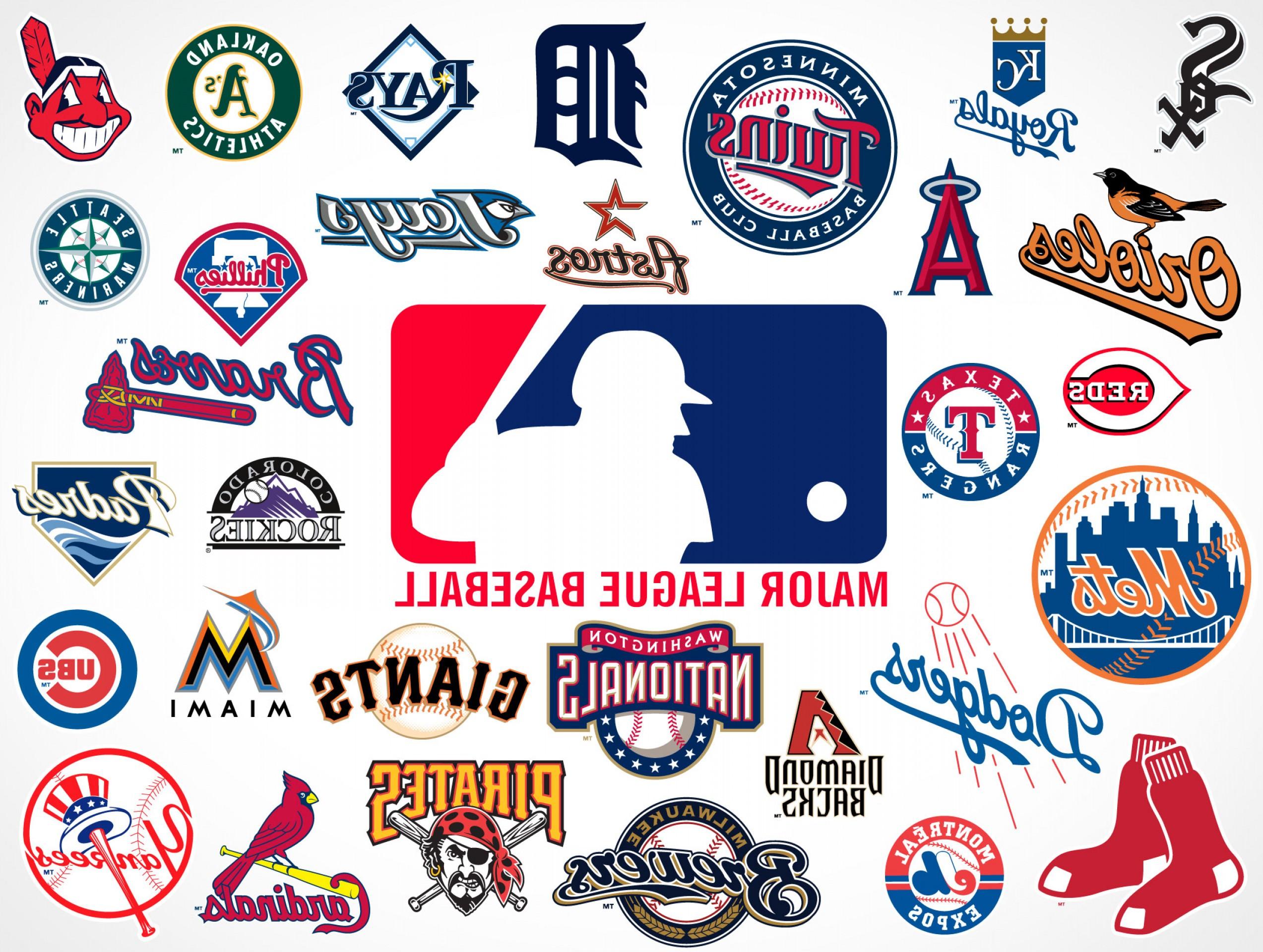 Major League Baseball Team Vector Logos Eps Svg Psd.