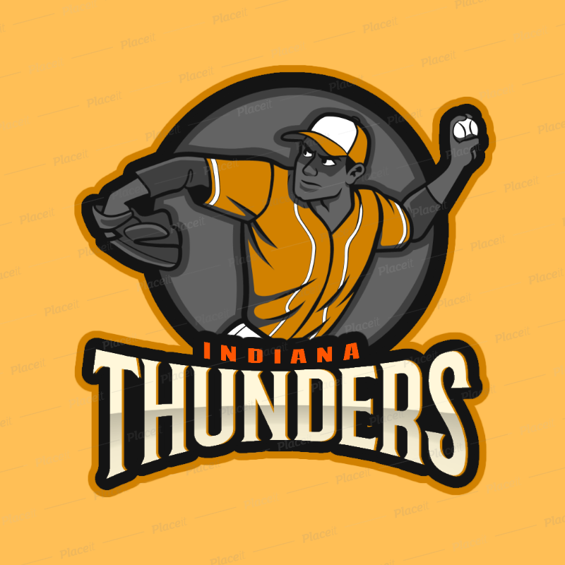 Baseball Team Logo Generator with a Pitcher Clipart 172v 2541.