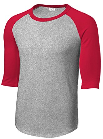 Amazon.com: Mens or Youth 3/4 Sleeve 100% Cotton Baseball Tee.