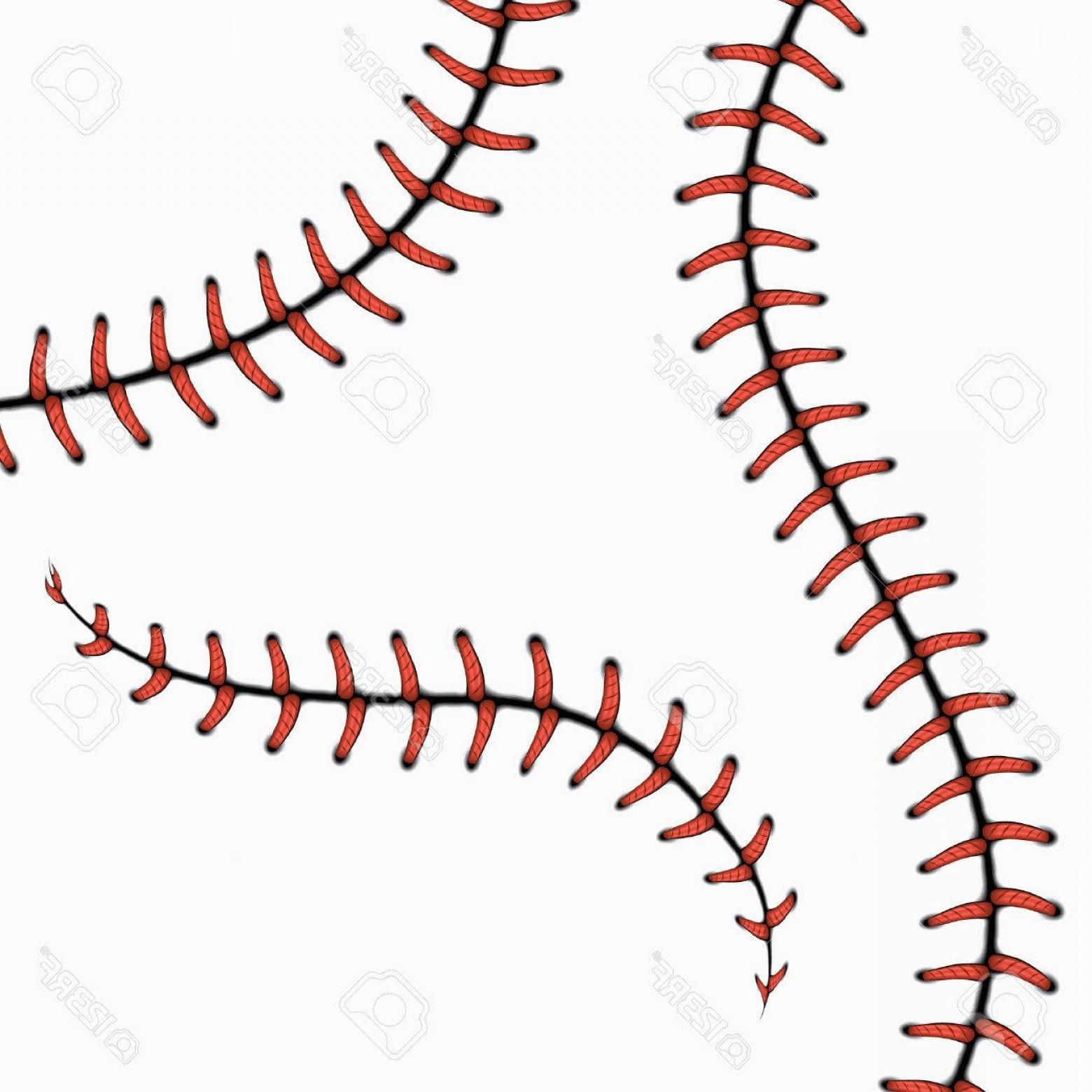 Photostock Vector Baseball Stitches Softball Laces Isolated On White.