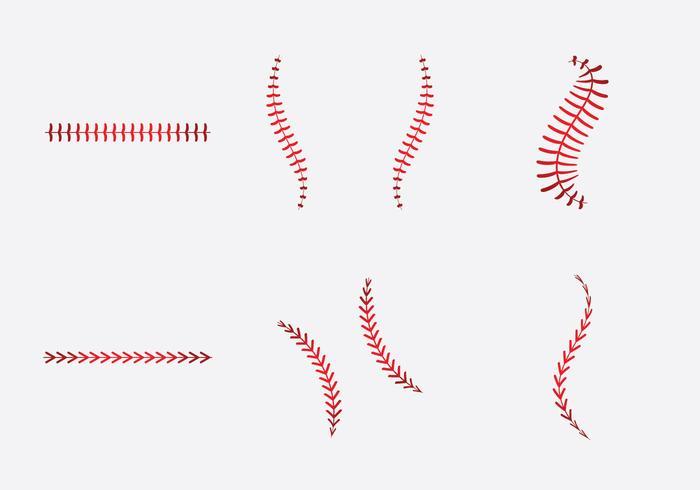 Baseball Laces Free Vector Art.