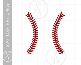 Baseball laces svg.