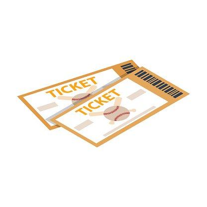 Baseball Tickets Isometric 3d Icon premium clipart.